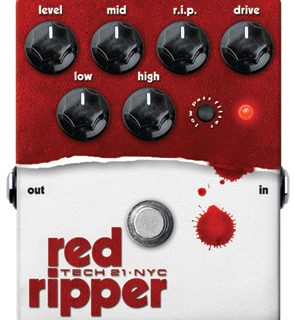 Upcoming from Tech 21: Red Ripper for Bass