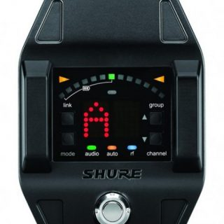 Shure introduces guitar receiver/stomp box tuner GLX-D6