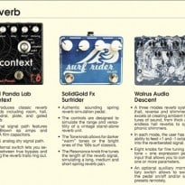 4 Reverb Pedals you can hear at the Brooklyn Stompbox Exbhibit 2014