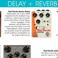 Delay + Reverb Board at the SXSW 2015 Stompbox Exhibit