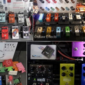 Pedalboards at the SNAMM 2016 Stompbox Exhibit