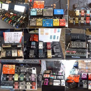 All the boards at the Austin Stompbox Exhibit 2017