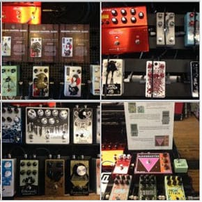 Boards from the first Montreal Stompbox Exhibit (2017)