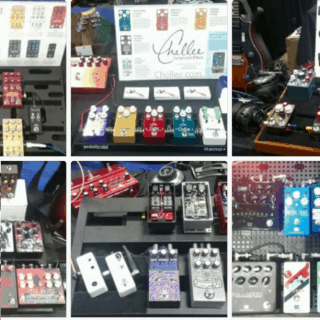 Boards at the 2017 SNAMM Stompbox Booth