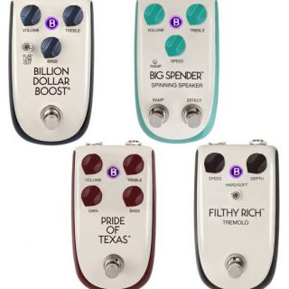 Danelectro unveils new line of pedals called BILLIONAIRE