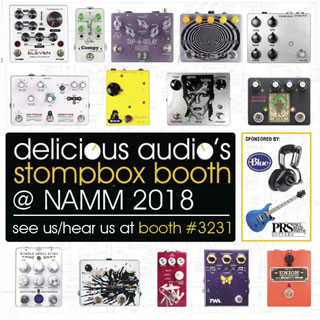 Delicious Audio's Stompbox Booth at NAMM 2018 with 15 Pedal Builders
