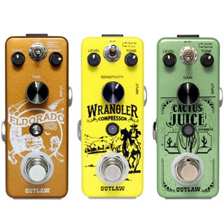 Outlaw Effects Debuts Echo, Compressor and Overdrive Guitar Pedals at NAMM 2018