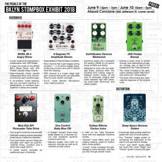 8 Gain Pedals you'll be able to try at the upcoming BK Stompbox Exhibit