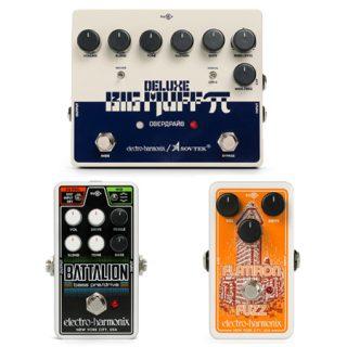 Electro-Harmonix unveils Sovtek Deluxe Big Muff, Flatiron Fuzz, and Nano Battalion.