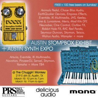 Austin Pedal and Synth Expo 2019! March 15/16 in Downtown Austin!