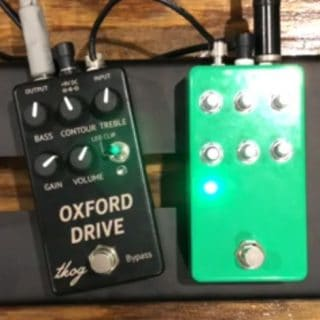 The King of Gear's prototypes at the BK Stompbox Exhibit '19:  Oxford Drive and Filter