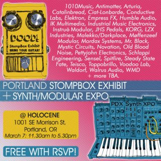 1st Portland Pedal & Synth+Modular Expo on March 7th!