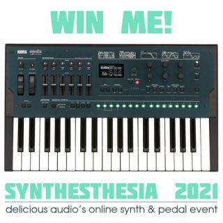 Win a KORG Opsix FM Synth through SYNTHESTHESIA 2021! [closed]