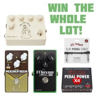 Win 3 pedals by Maxon, Heather Brown and Crazy Tube Circuits + accessories!