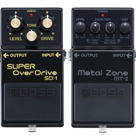 BOSS MT-2 and DS-1