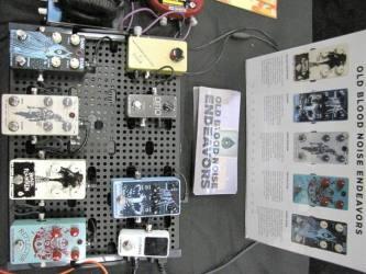 Old Blood Noise Endeavors SXSW 2016 Stompbox Exhibit Board