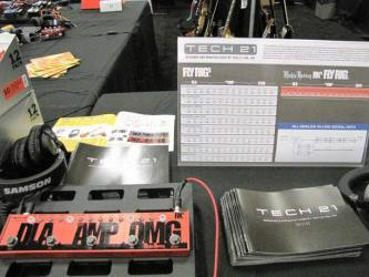 Tech 21 RK Fly Rig at  SXSW 2016 Stompbox Exhibit